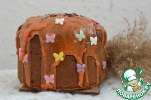 Остывший кекс украсить по желанию.