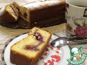 Pour yourself a Cup of tea and enjoy fabulously soft, creamy-berry slice of cake.  Nice!