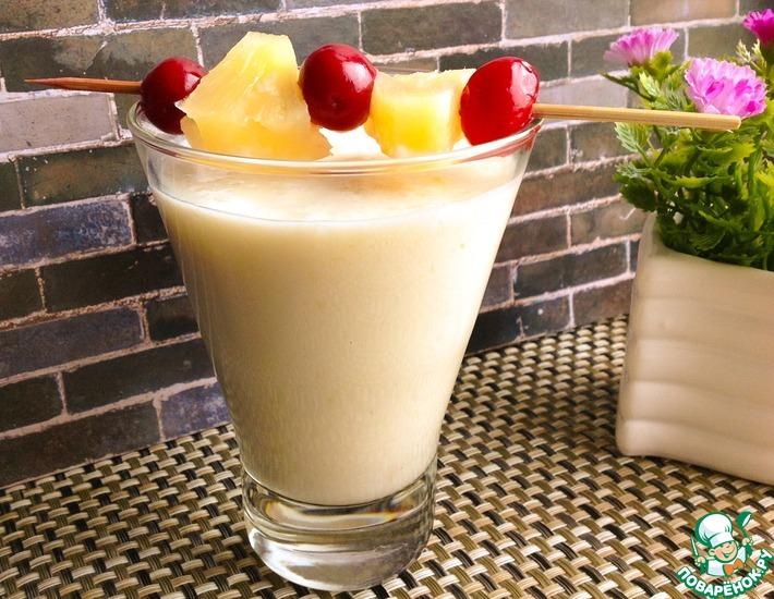 Рецепт: Ананасово-банановый смузи
