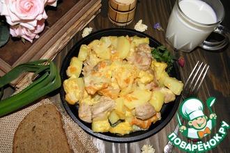 Рецепт: Мясо с картофелем