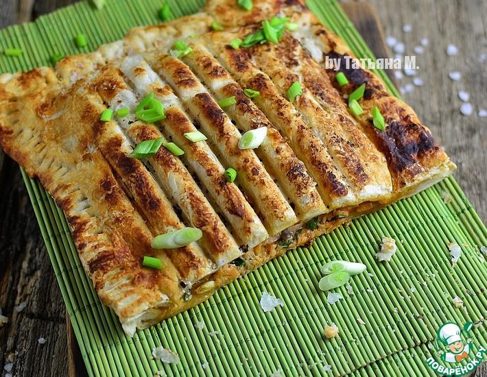 Рецепт: Гриль-пирог с цельным лососем