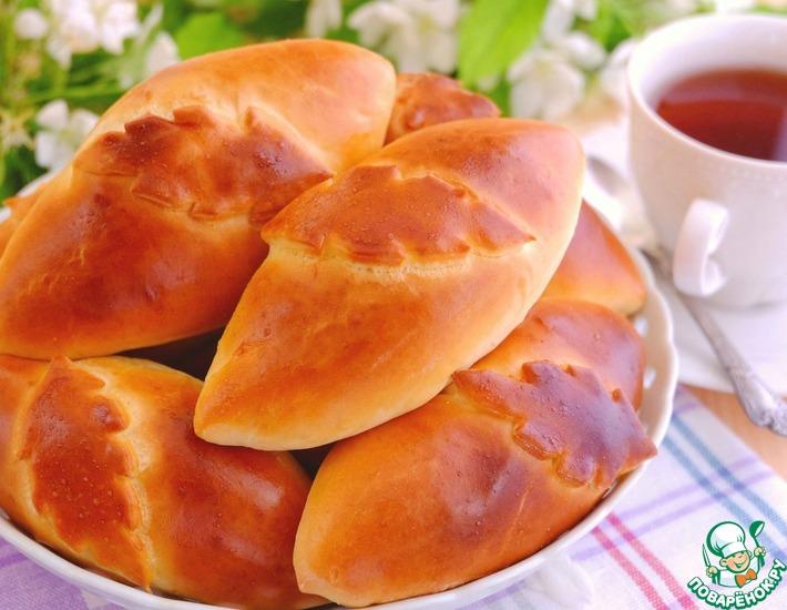Рецепт: Пирожки с печенью и рубленым яйцом