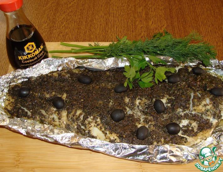Рецепт: Треска под оливковой корочкой