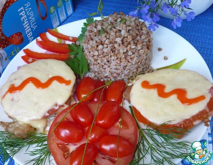 Рецепт: Свиной эскалоп с помидорами и сыром
