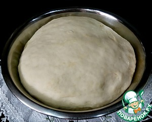 So came the dough while preparing the filling.
