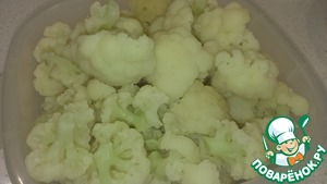 Cauliflower wash, divide into florets and boil them in salted water for 6-8 min. drain the Water and let it cool down, cabbage should not be soft after boiling. I used fresh cabbage, but can be frozen.