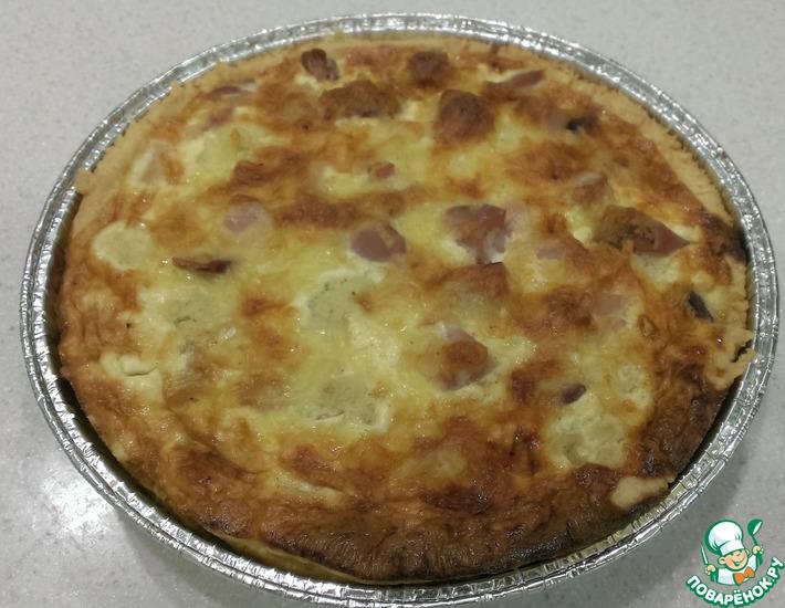 Рецепт: Киш с цветной капустой и курицей