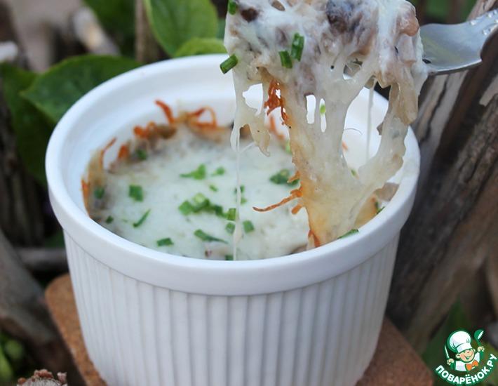 Рецепт: Грибной жульен с рисом