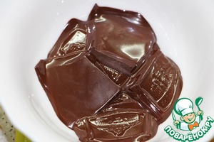 Melt chocolate in microwave or in a water bath