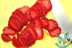 Strawberries cut