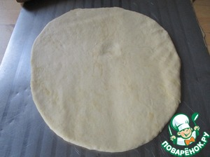 Roll the dough to a thickness of approximately 1 cm optional and you can sprinkle your favorite herbs.