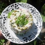 Быстрый салат с рисом