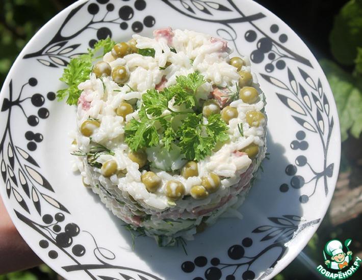 Рецепт: Быстрый салат с рисом