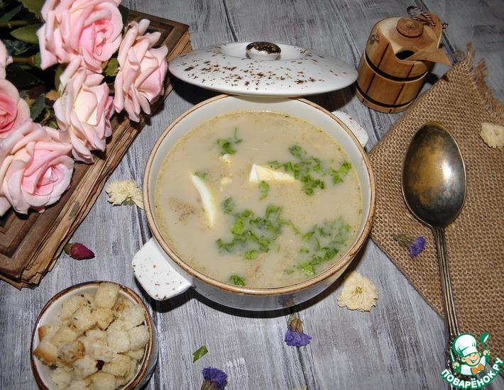 Рецепт: Грибной суп Душевный!