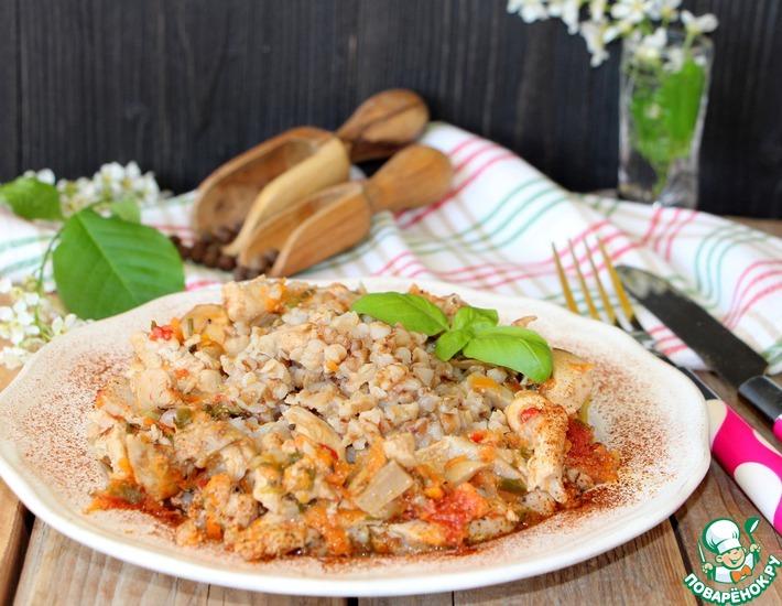 Рецепт: Гречка с курицей и овощами