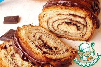 Рецепт: Шоколадный пирог-рулет