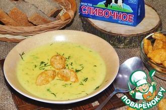 Рецепт: Крем-суп с копченостями