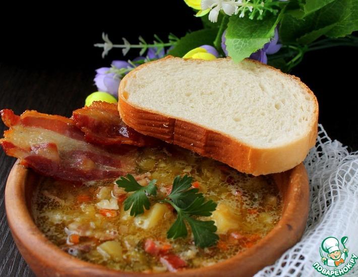 Рецепт: Суп чечевично-гороховый
