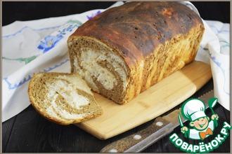 Рецепт: Мраморный пшенично-ржаной хлеб