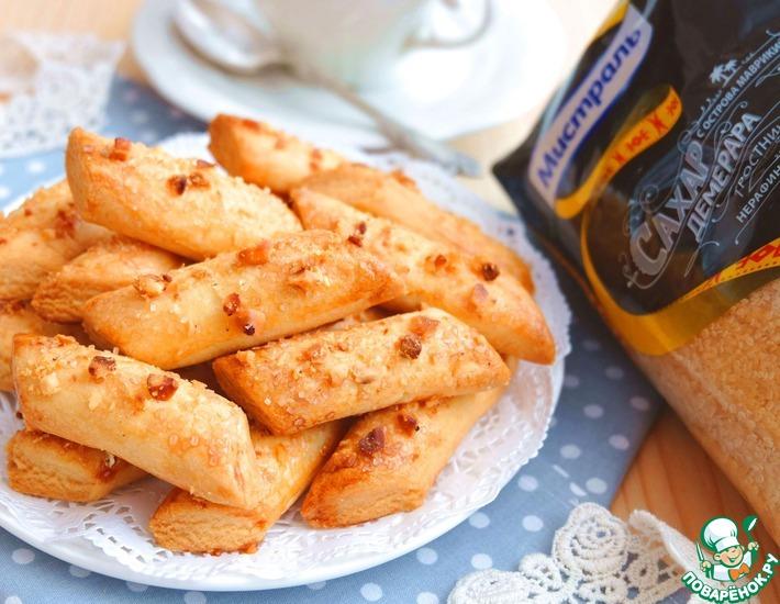 Рецепт: Брусочки кондитерские с орехами