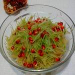 Салат из зеленой редьки с гранатом