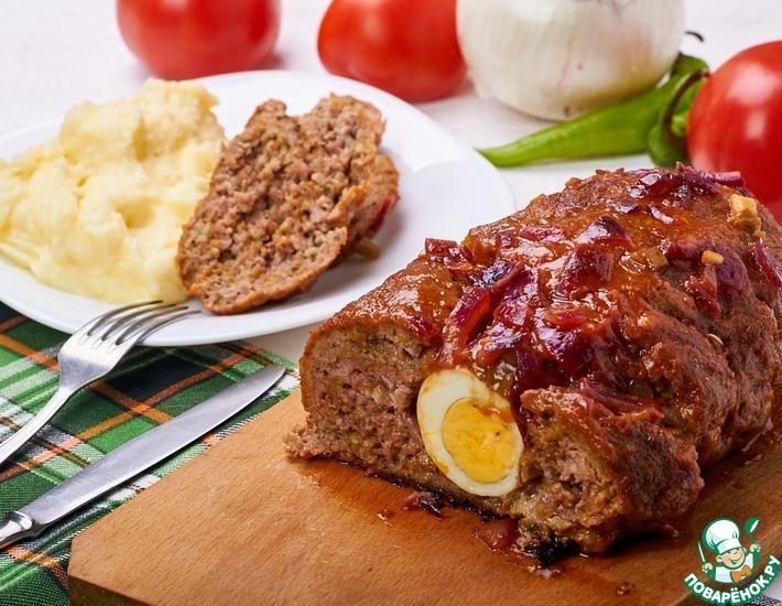Рецепт: Кубинский мясной рулет Пулпета
