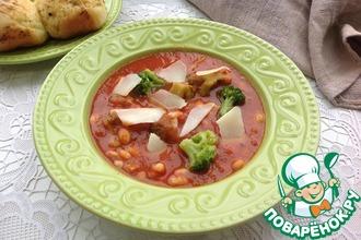 Рецепт: Томатный суп с брокколи