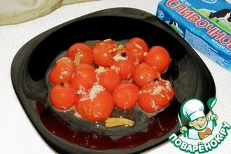 Рецепт: Закуска «Помидоры в сливочной карамели»