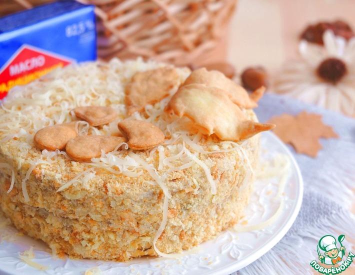 Рецепт: Торт закусочный Грибная фантазия
