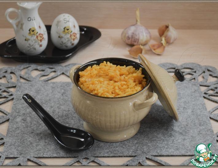 Рецепт: Жареный рис Кабачковый аромат