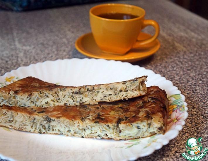 Рецепт: Пирог заливной с капустой