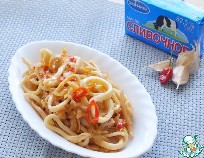 Рецепт: Жареные кальмары со жгучим перцем