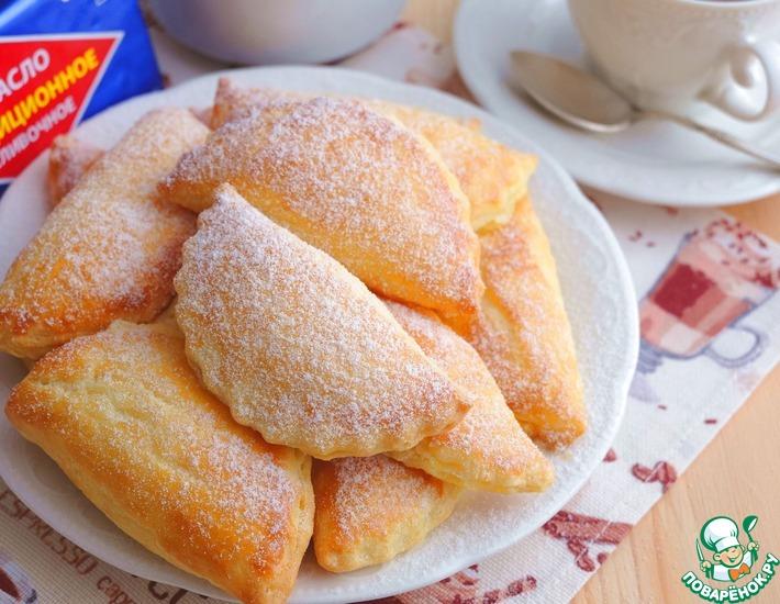 Рецепт: Пирожки-слойки с творогом