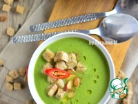 Суп-пюре с брокколи и копченым сыром ингредиенты