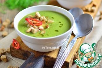 Рецепт: Суп-пюре с брокколи и копченым сыром