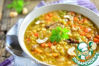 Рецепт: Чечевичный суп с уткой и кешью