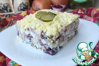 Рецепт: Мясной салат Брутальный