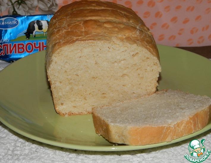 Рецепт: Сдобный белый хлеб «Бутербродный»