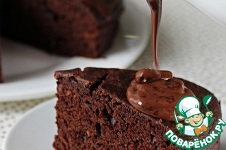 Рецепт: Шоколадный фондан с тыквой
