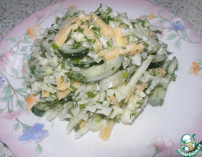 Рецепт: Капустный-огуречный салат Просто так!