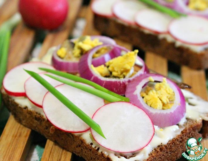 Рецепт: Норвежский бутерброд со шпротами