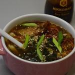 Мисо-суп с курицей и лапшой-рамен