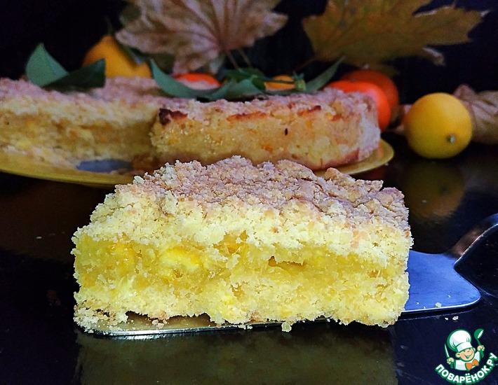 Рецепт: Песочный апельсиново-лимонный пирог Теплая осень