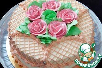 Рецепт: Торт сливочно-ананасовый