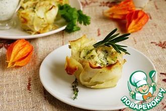 Рецепт: Картофельно-мясные розы
