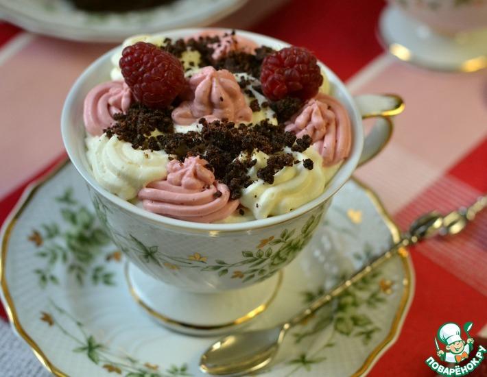 """Десерт """"Малиново-шоколадный крем"""""""