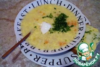 Рецепт: Картофельно-яичный суп на сале