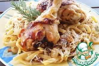 Рецепт: Макаронада с курицей и ароматными травами