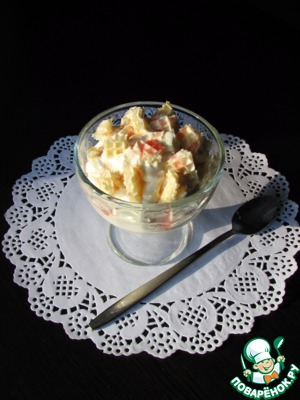 Рецепт: Фруктовый салат А-ля чизкейк