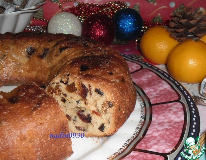 Рецепт: Кекс Рождественский с инжиром